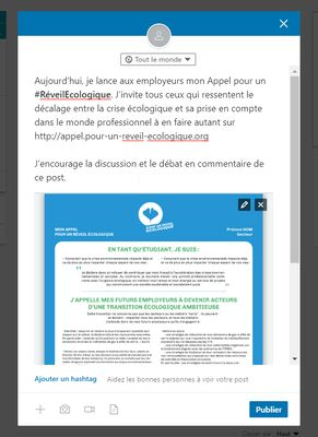 exemple post linkedin
